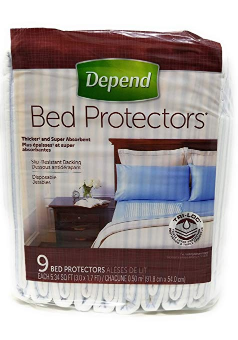 Depend Bed Protector.